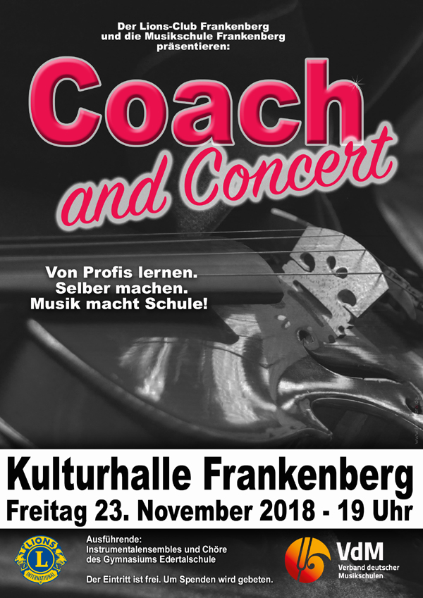 plakat coach and concert 2018